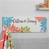 Mod Floral Personalized Towel Hook - 17622