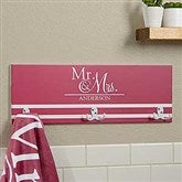 Wedded Pair Personalized Towel Hook - 17631