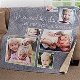 They're Worth Spoiling Personalized Premium 50x60 Sherpa Blanket - 17637