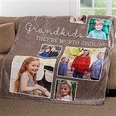 They're Worth Spoiling Personalized 60x80 Fleece Photo Blanket - 17638-L