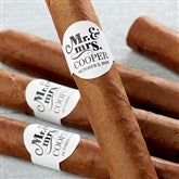 The Happy Couple Personalized Cigar Labels - 17643