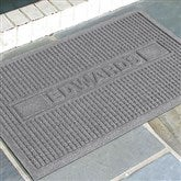 Squares Family Name Personalized AquaShield™ Molded Doormat - 17649D