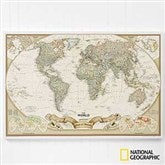 Our Romantic Travels National Geographic® World Personalized Canvas Map - 17657-W