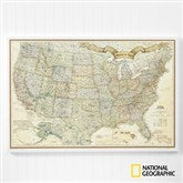 Romantic Travels National Geographic® US Personalized Canvas Map 24