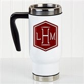 Classic Monogram Personalized Commuter Travel Mug - 17662