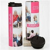 Family Love Photo Collage Personalized 16oz. Travel Tumbler - 17663