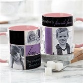 Family Love Photo Collage Personalized Coffee Mug 11 oz.- Pink - 17665-P
