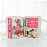 Family Love Photo Collage Personalized Coffee Mug 11 oz.- White - 17665-S