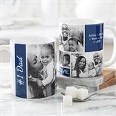 Family Love Photo Collage Personalized Coffee Mug 11 oz.- White - 17665-S