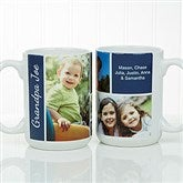 Family Love Photo Collage Personalized Coffee Mug 15oz.- White - 17665-L