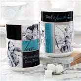 Family Love Photo Collage Personalized Coffee Mug 15oz.- White - 17665-L