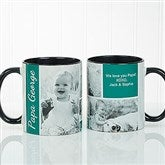 Family Love Photo Collage Personalized Coffee Mug 11 oz.- Black - 17665-B