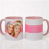 Love You This Much! Personalized Photo Coffee Mug 11 oz.- Pink - 17668-P