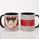 Love You This Much! Personalized Photo Coffee Mug 11 oz.- Black - 17668-B