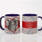 Love You This Much! Personalized Photo Coffee Mug 11 oz.- Blue - 17668-BL