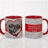 Love You This Much! Personalized Photo Coffee Mug 11 oz.- Red - 17668-R