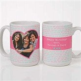 Love You This Much! Personalized Photo Coffee Mug 15oz.- White - 17668-L