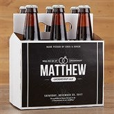 Will You Be My Groomsman Personalized Bottle Carrier - 17669-C