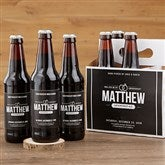 Will You Be My Groomsman Personalized Beer Bottle Labels- Set of 6 - 17669-B