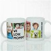 5 Photos Loving Message Personalized Coffee Mug 11 oz.- White - 17675-S