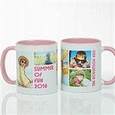 5 Photos Loving Message Personalized Coffee Mug 11 oz.- Pink - 17675-P