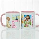 5 Photos Loving Message Personalized Coffee Mug 11 oz.- Pink - 17675-P