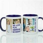 5 Photos Loving Message Personalized Coffee Mug 11 oz.- Blue - 17675-BL