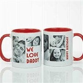 5 Photos Loving Message Personalized Coffee Mug 11 oz.- Red - 17675-R