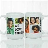 5 Photos Loving Message Personalized Coffee Mug 15oz.- White - 17675-L