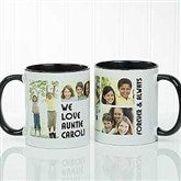 5 Photos Loving Message Personalized Coffee Mug 11 oz.- Black - 17675-B
