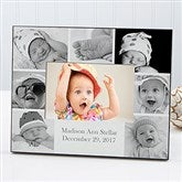 Printed Photo Collage Personalized Baby Picture Frame- Horizontal - 17678-H
