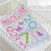 Sweet Baby Girl Personalized Fleece Blanket - 17680