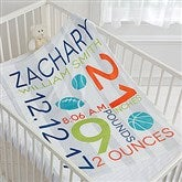 Sweet Baby Boy Personalized Fleece Blanket - 17681