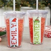 Christmas Character Personalized Acrylic Insulated Tumbler