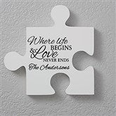 Personalized Puzzle Piece Wall Décor - Quote 2 - 17697-Q2