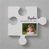 Name & Photo Personalized Puzzle Piece Wall Décor - 17700