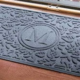 Falling Leaves Monogram Personalized AquaShield™ Molded Doormat - 17703D