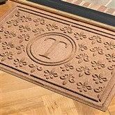 Fleur Field Monogram Personalized AquaShield™ Molded Doormat - 17704D