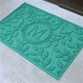 Brittany Leaf Monogram Personalized AquaShield™ Molded Doormat - 17706D