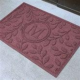 Brittany Leaf Monogram Personalized AquaShield™ Molded Doormat - 17706D