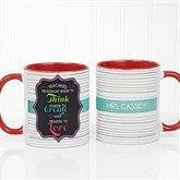 Teacher Quotes Personalized Coffee Mug 11 oz.- Red - 17717-R