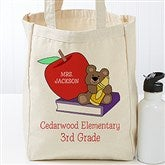 Teddy Bear Personalized Teacher Tote Bag - 17719