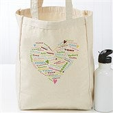 Her Heart of Love Personalized Petite Canvas Tote - 17722