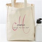 Name Meaning Monogram Personalized Petite Canvas Tote Bag - 17727