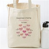 What Is Happiness? Personalized Petite Canvas Tote - 17728
