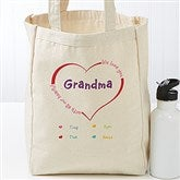 All Our Hearts Personalized Petite Canvas Tote Bag - 17729