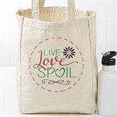 Live, Love, Spoil Personalized Canvas Tote - 17730