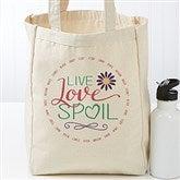 Live, Love, Spoil Personalized Petite Canvas Tote - 17730