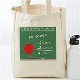 Chalkboard Teacher Personalized Tote Bag - 17734