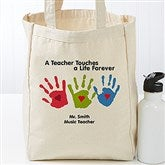 Touches A Life Personalized Teacher Petite Tote Bag - 17736